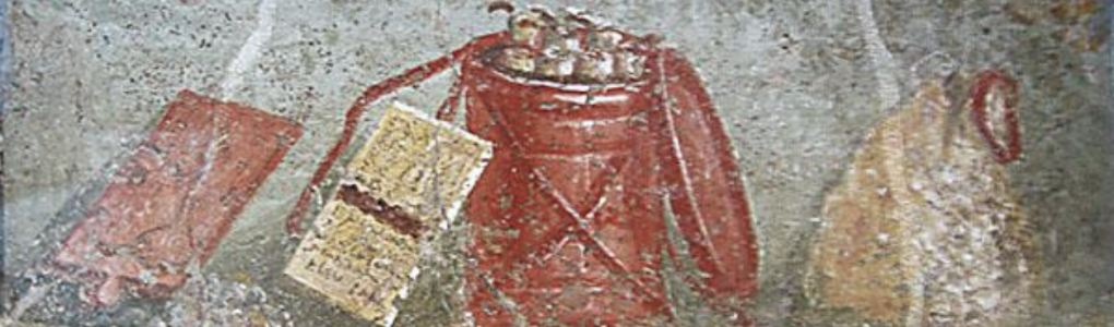 Pompeii, fresco - book supplies