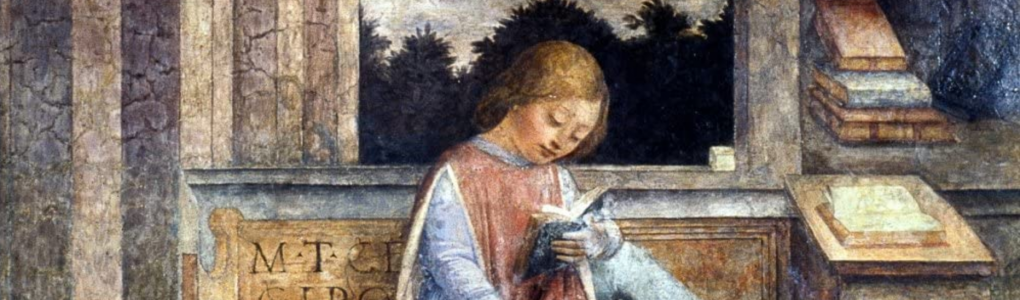 Foppa, Young Cicero Reading (fresco)