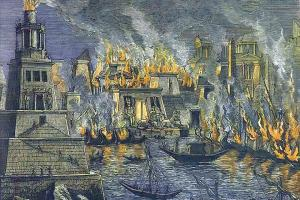 burning of the Alexandrian library