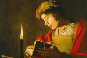 Matthias Stom, Young Man Reading (painting)