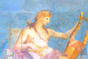 Apollo with lyre (fresco fragment)